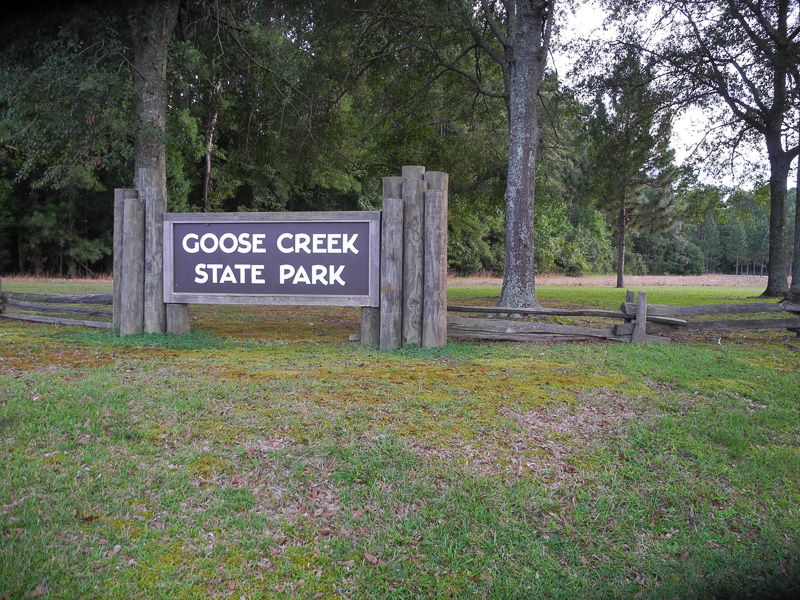 Goose Creek State Park Sign